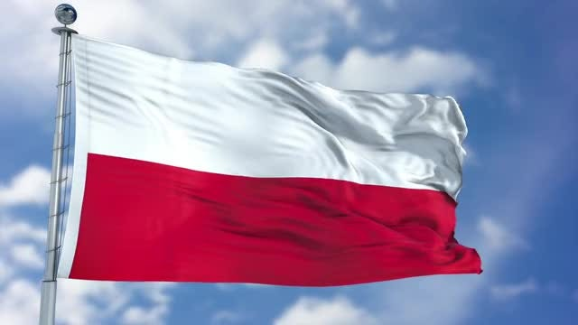 Poland Flag Animation: Stock Motion Graphics