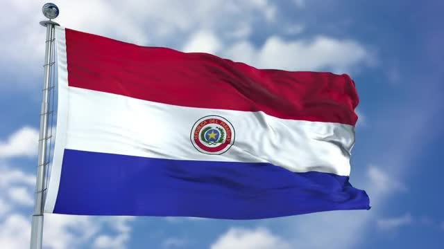 Paraguay Flag Animation: Stock Motion Graphics