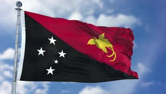 Papua New Guinea Flag : Motion Graphics