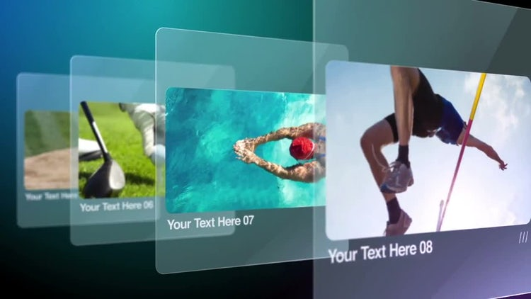 Glass Slides: After Effects Templates