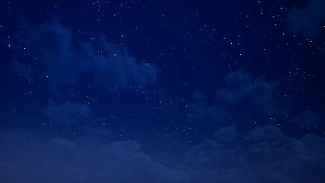 Clouds And Stars At Night: Stock Motion Graphics