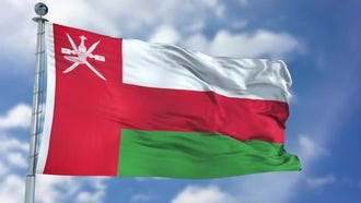 Oman Flag: Motion Graphics