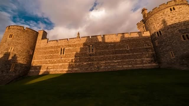 Windsor Castle, Berkshire, England UK: Stock Video