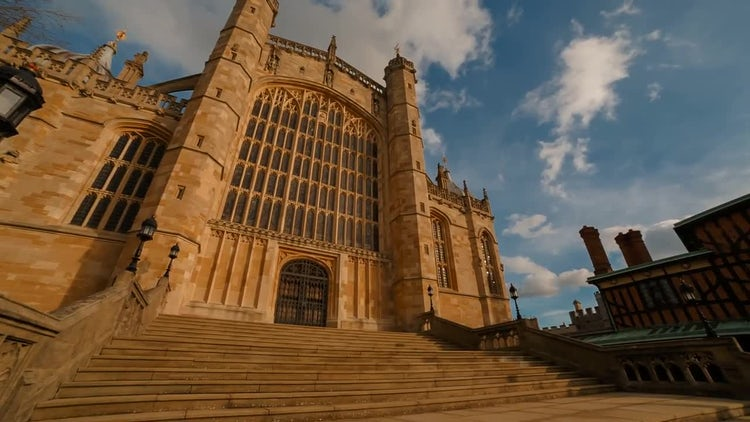 The St George's Chapel: Stock Video