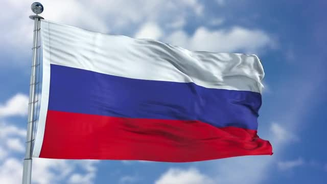 Russia Flag Animation: Stock Motion Graphics