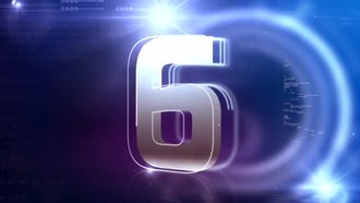 Official Countdown Blue Background: Stock Motion Graphics