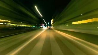 Fast Night City Drive: Stock Video