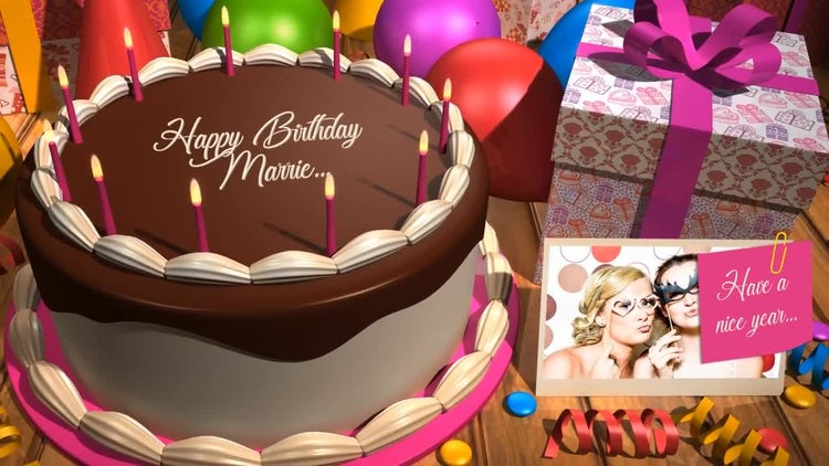 Birthday Cake: After Effects Templates