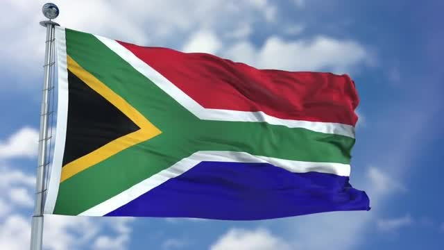 South Africa Flag Animation: Stock Motion Graphics