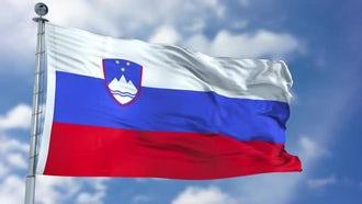 Republic Of Slovenia Flag: Motion Graphics