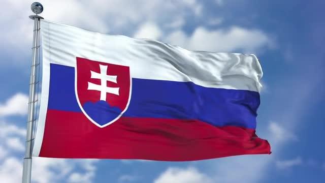Slovakia Flag Animation: Stock Motion Graphics