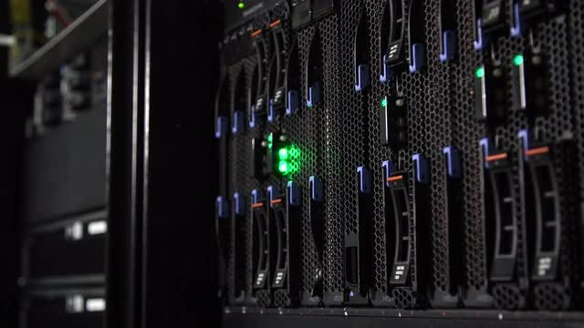 Array Disk Storage In Data Center: Stock Video
