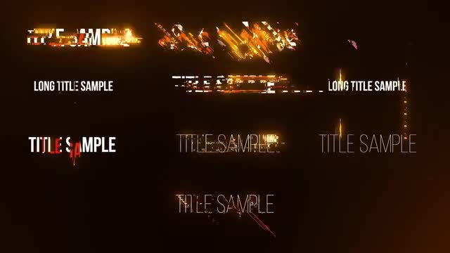 Energetic Titles: After Effects Templates