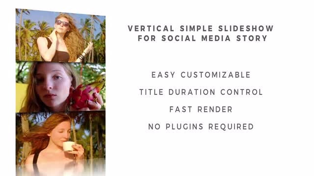 Vertical Simple Slideshow For Social Media Stories: After Effects Templates