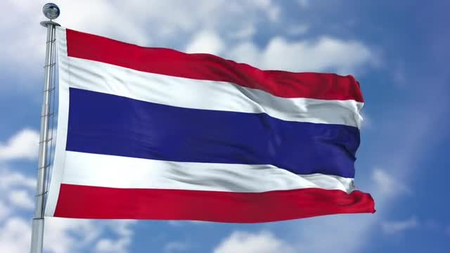 Thailand Flag Animation: Stock Motion Graphics