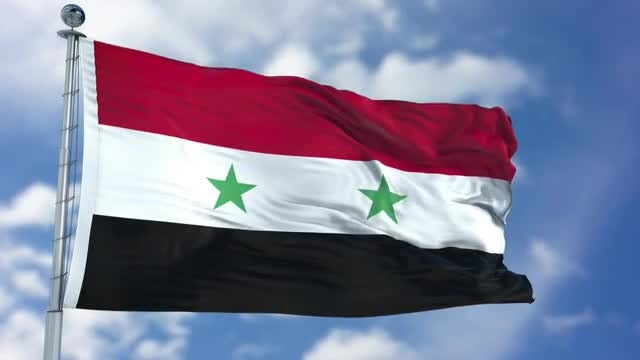 Syria Flag Animation: Stock Motion Graphics