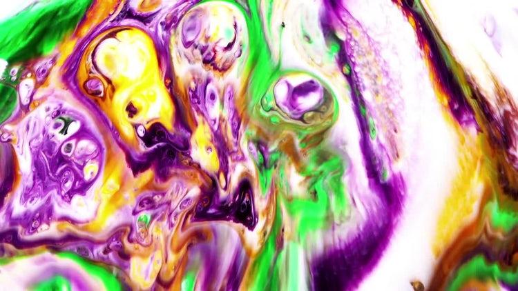 Colorful Turbulence In Milk 2: Stock Video
