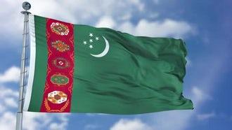 Turkmenistan Flag Animation: Motion Graphics
