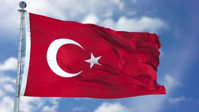 Turkey Flag Animation: Stock Motion Graphics