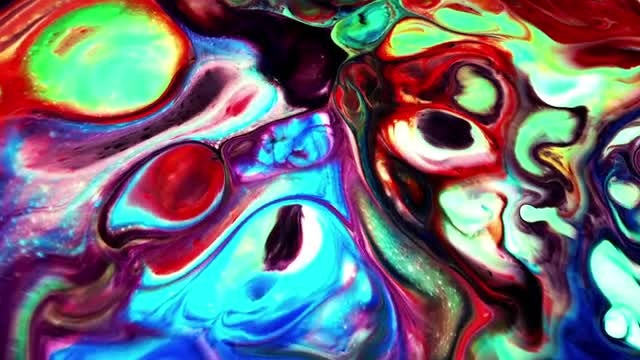 Turbulence In Colorful Paint Mixture : Stock Video
