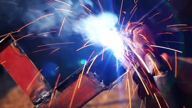 Factory Worker Welding : Stock Video