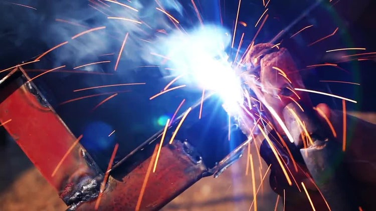 Factory Worker Welding : Stock Video