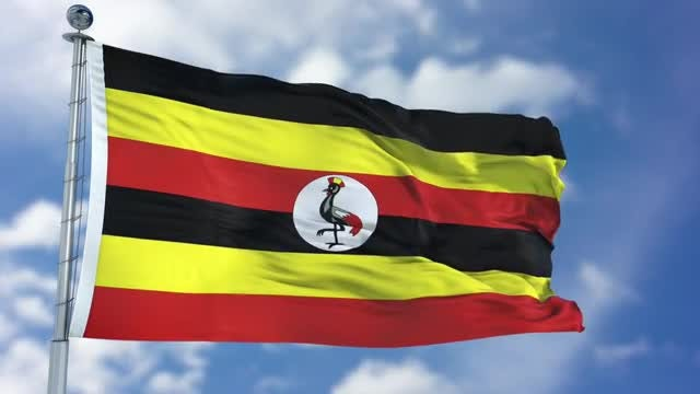Uganda Flag Animation: Stock Motion Graphics