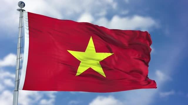Vietnam Flag Animation: Stock Motion Graphics