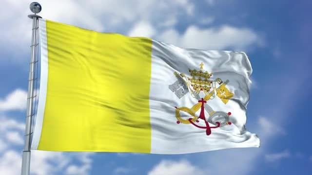 Vatican City Flag Animation: Stock Motion Graphics