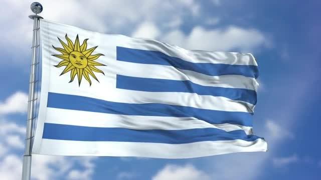 Uruguay Flag Animation: Stock Motion Graphics