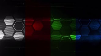 HexaTech Loop Background Pack: Motion Graphics