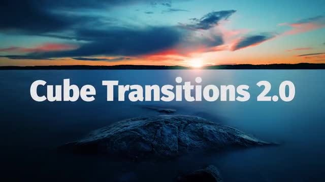 Cube Transitions 2.0: Premiere Pro Templates