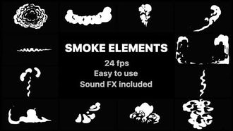 Cartoon Smoke Elements: Motion Graphics