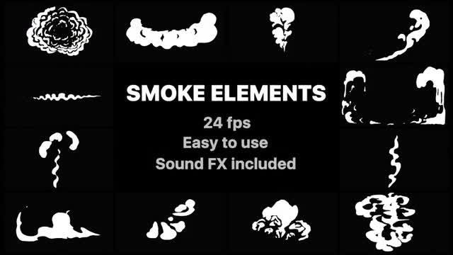 Cartoon Smoke Elements: Stock Motion Graphics