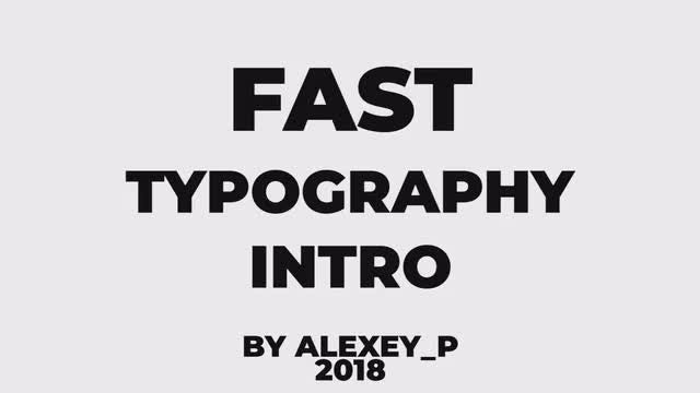 Fast Typography Intro: Premiere Pro Templates