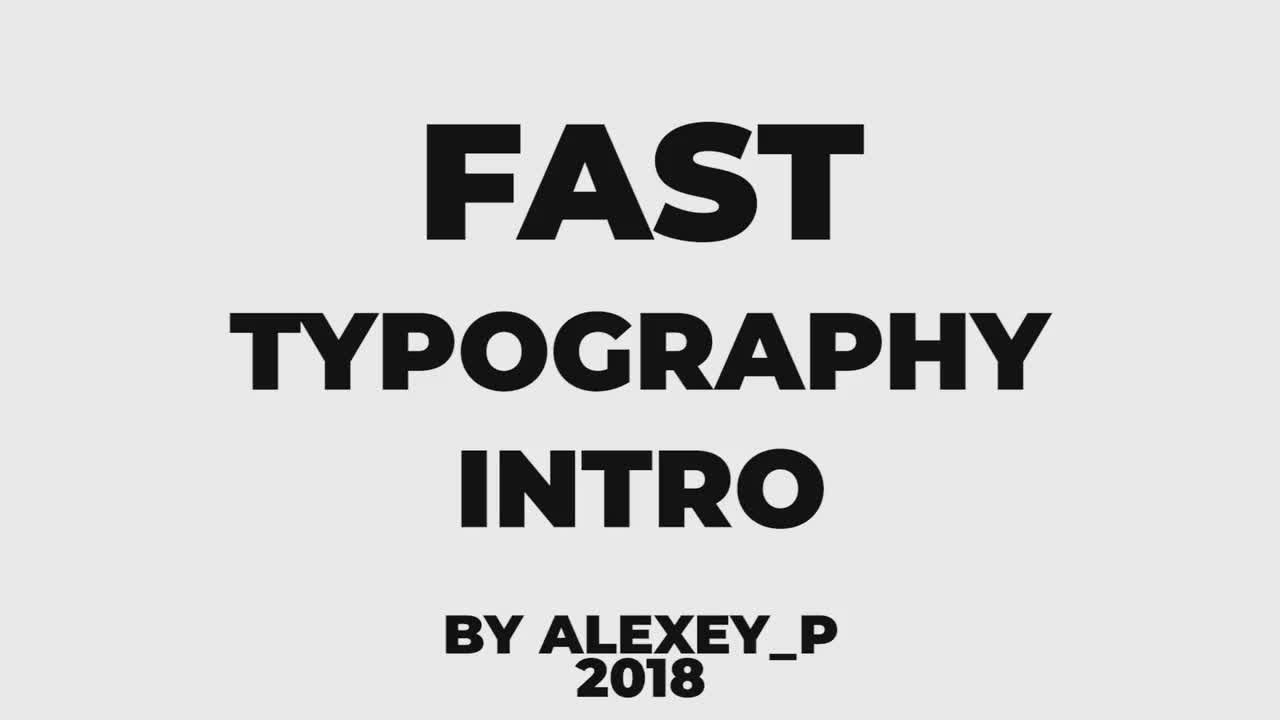 Fast Typography Intro - Premiere Pro Templates 74573