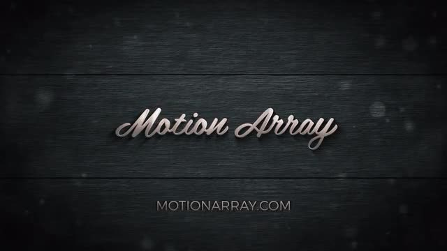 Metal And Wood Epic Logo: After Effects Templates