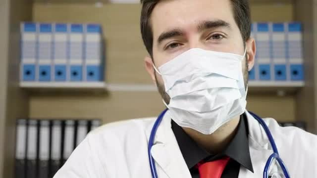 Doctor Wearing A Breathing Mask : Stock Video