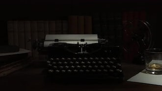 Vintage Typewriter And Electric Fan: Stock Footage