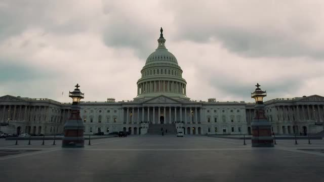 Time-Lapse Of US Congress Building: Stock Video