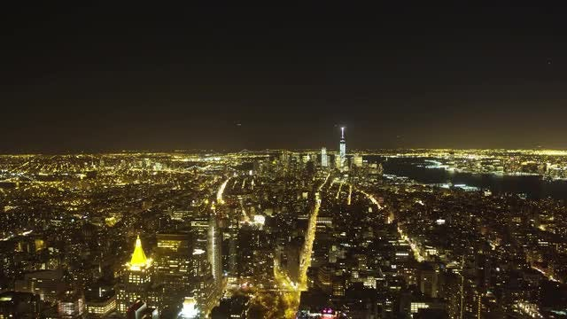 New York City At Night: Stock Video