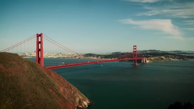 Golden Gate Bridge From Mountains: Stock Video