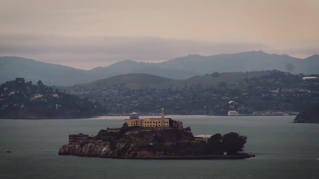Time-Lapse Of Alcatraz Island : Stock Video