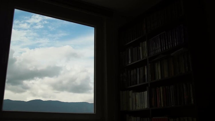 Time-lapse Of Sky And Library: Stock Video