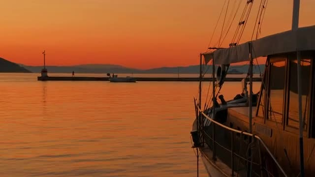 Sunset On Thassos Island: Stock Video