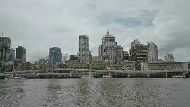 Cityscape Of Brisbane In Australia : Stock Video
