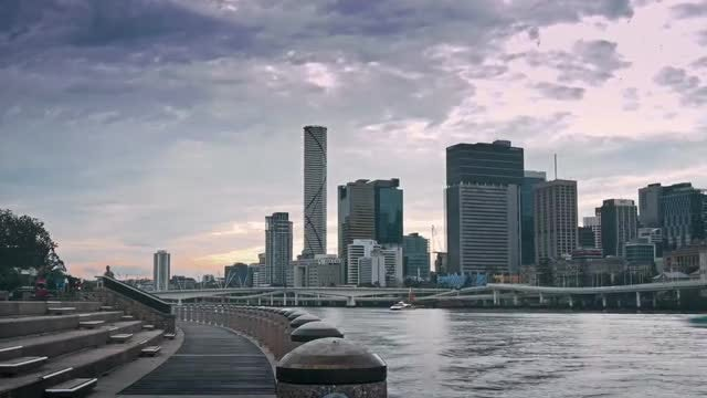 Brisbane's Clem Jones Promenade Boulevard: Stock Video