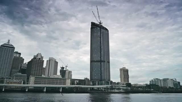 Beautiful Cityscape Of Brisbane City : Stock Video