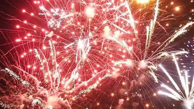 Fireworks Celebrations At Night: Stock Video
