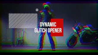 Dynamic Glitch Opener: After Effects Templates